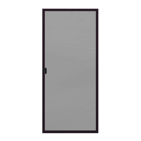 aluminum patio screen doors jeld wen 36 in x 80 in a 200 series bronze aluminum