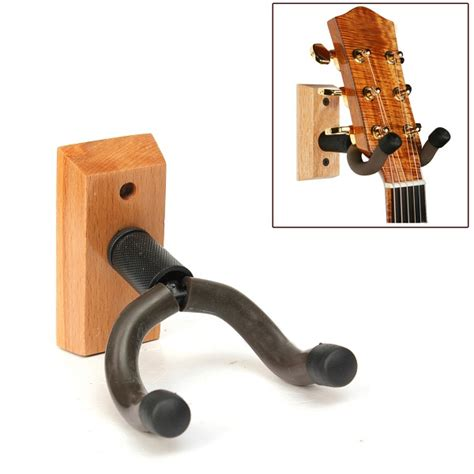 Hanger Gitar Wood Base wooden base guitar hangers wall mount hooks stand holder musical instrument sale banggood