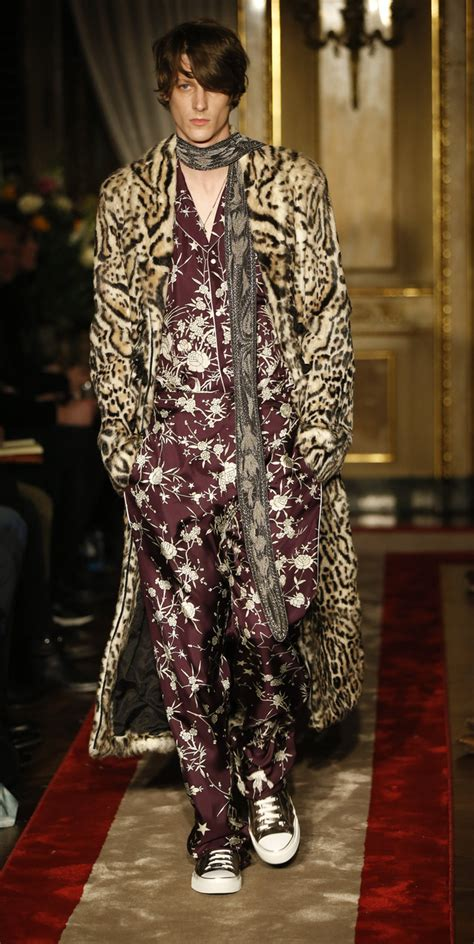 Mens Fashion Week Roberto Cavalli For And In Ss0708 by Milan Menswear Designers Pay Tribute To David Bowie