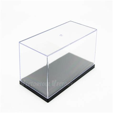 Clear Acrylic L Base by Uk 4 Quot L Acrylic Clear Uv Display Box Plastic Base Perspex Dustproof Decor Ebay