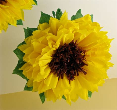 How To Make Paper Sunflowers - unavailable listing on etsy