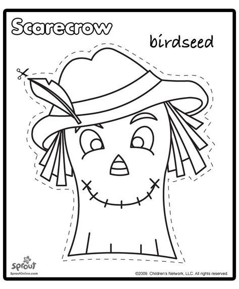 scarecrow pattern for kindergarten printable scarecrow patterns scarecrow template