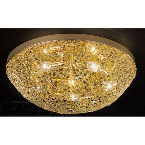 franklite fl2287 5 sirius gold finish flush ceiling light
