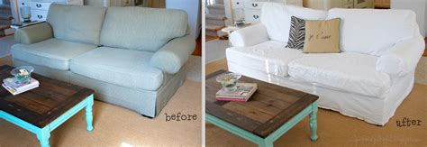 custom slipcover cost pink polka dot before and after slipcover