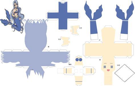 Mermaid Papercraft - mermaid noelle papercraft by sumatradjvero on deviantart