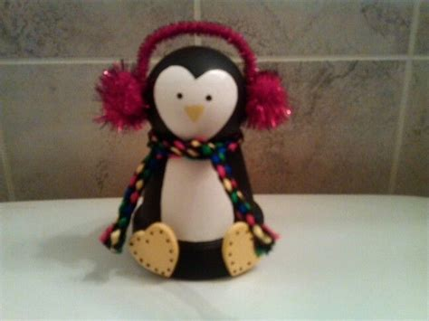 easy clay pot penguin craft ideas pinterest clay