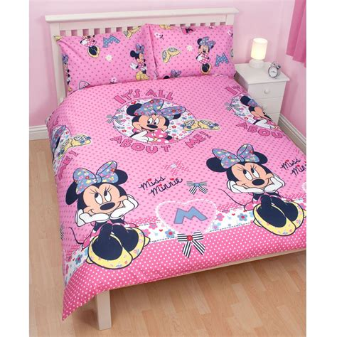 minnie mouse bedding and curtains minnie mouse shopaholic double duvet cover official new