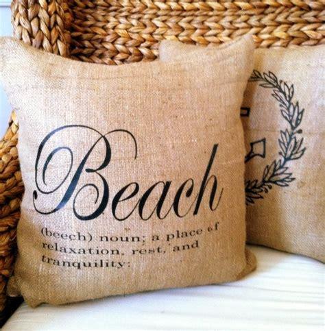definition with decorative beach definition burlap 18x18 decorative pillow cover