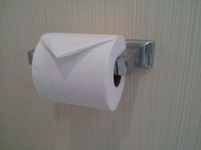 Fold Toilet Paper - why do hotels fold the toilet paper into a triangle quora