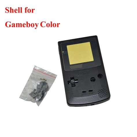 10pcs A Lot Transparent Clear Black Shell For Gameboy For Gameboy Color