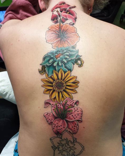 different flower tattoos 23 spine designs ideas design trends
