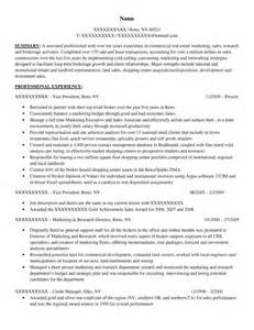 Corporate Real Estate Director Sle Resume by Executive Resume Sles Resume Prime