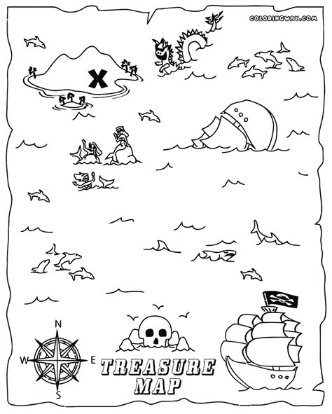 pirate map coloring pages printable az coloring pages