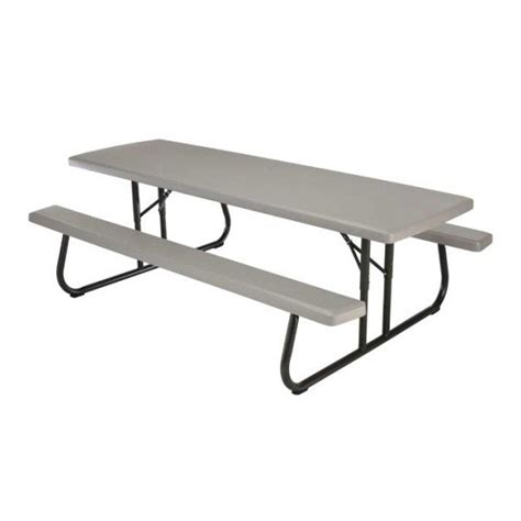 plastic picnic bench lifetime 8 ft plastic folding picnic table putty 80123 kitsuperstore com