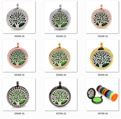Tree Aromatherapy Locket Necklace new tree aromatherapy locket necklace 4 colors aroma