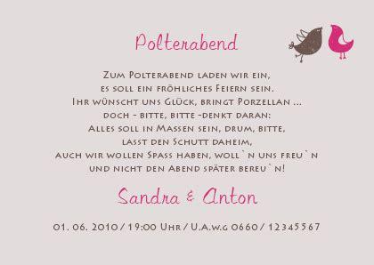 Einladung Zur Polterhochzeit by Einladungskarten Polterabend Spr 252 Che Alle Guten Ideen