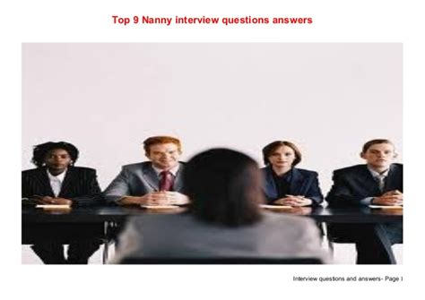 top 9 nanny questions answers