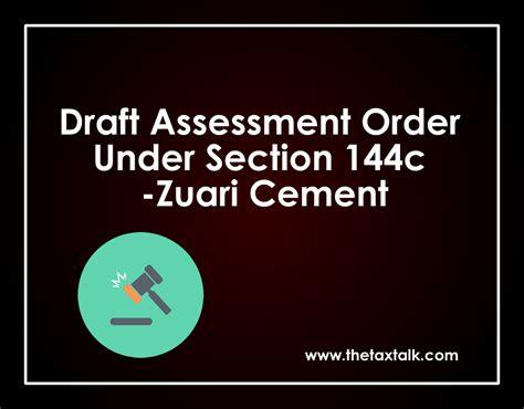 assessment section assessment order under section 144c thetaxtalk draft