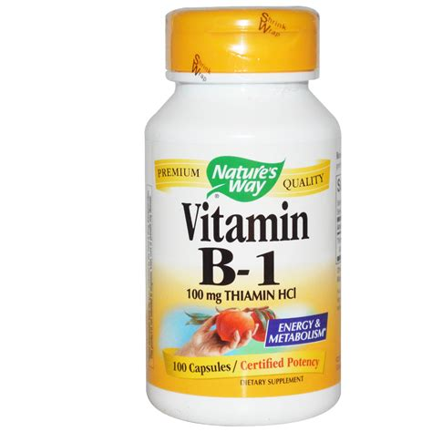 Vitamin I Nature S Way Vitamin B 1 100 Mg Thiamin Hcl 100