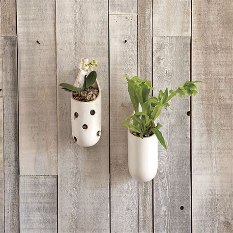 West Elm Wall Planter Shane Powers Ceramic Wall Planters West Elm