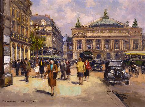 A Place Opera Place De L Opera Edouard Cortes Wikiart Org Encyclopedia Of Visual Arts