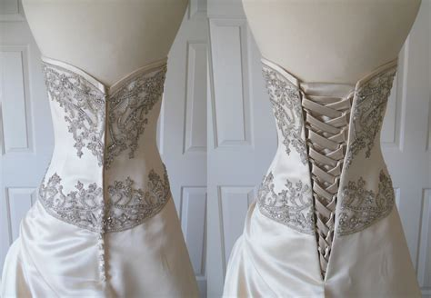 Wedding Dress Zipper To Corset has anyone replaces their zipper on wedding dress with a