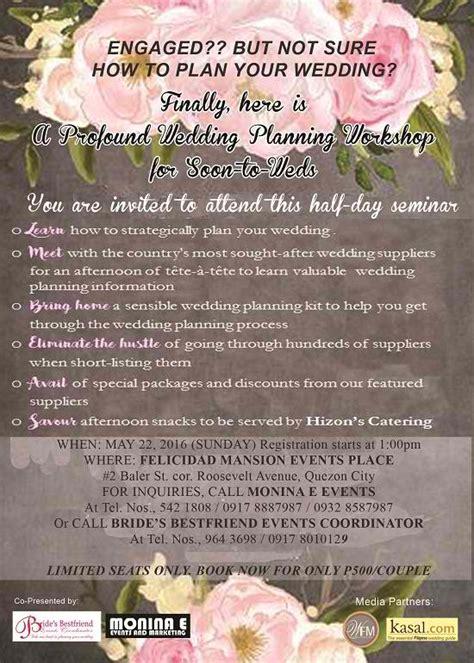 wedding organizer in quezon city at range a profound wedding planning workshop