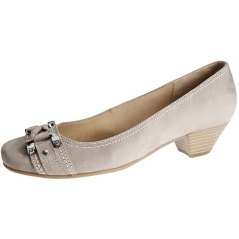 low heel shoes gabor shoes low heel court shoe in taupe
