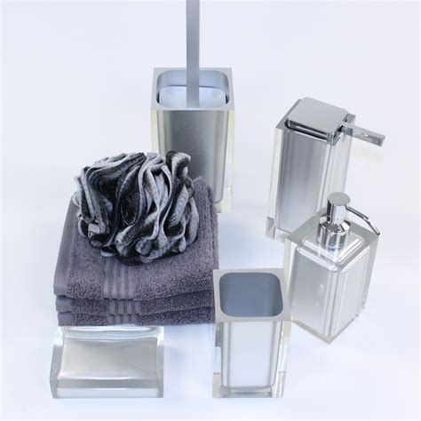 district17 rainbow 5 bathroom accessory set in grey bathroom accessories