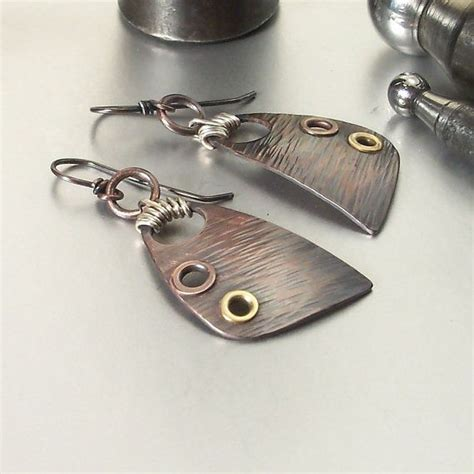 Handmade Metal - wire wrapped jewelry handmade earrings mixed metal jewelry