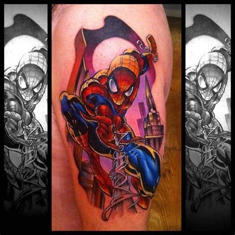 spiderman tattoo spider tattoos