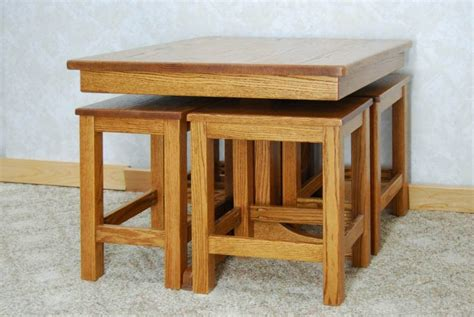 high low table with chairs de vries woodcrafters