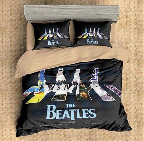 custom   beatles duvet cover set bedding set pcs flat sheet pill  lemons hometextile