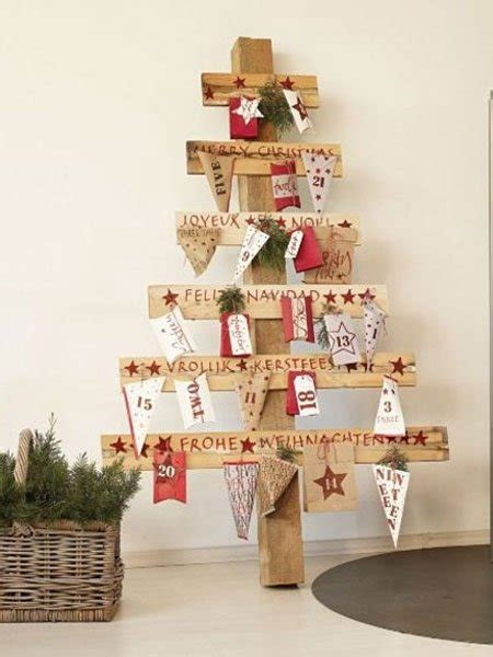 gestell weihnachtsbaum rustikaler adventskalender holz adventskalender basteln