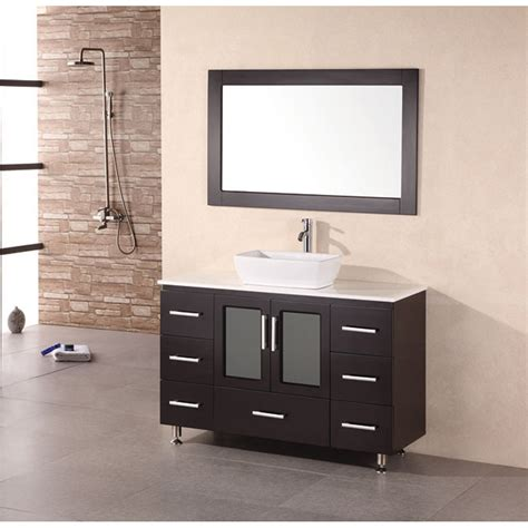 design element milan  bathroom vanity  vessel sink