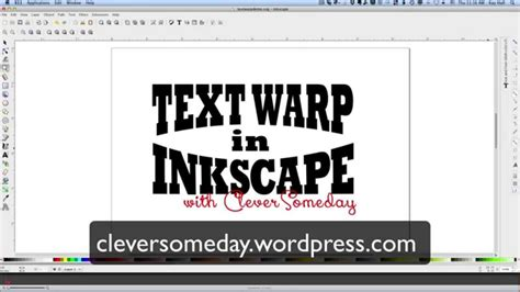 inkscape tutorial arched text text warp in inkscape youtube
