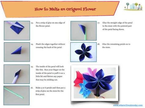 Easy Sticky Note Origami - how to make a special origami flower