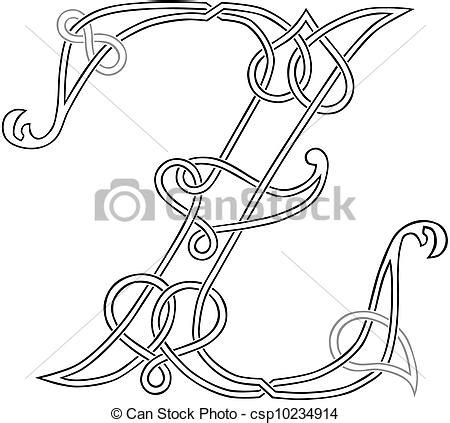 Letter Z Drawing by Vector Clip Of Celtic Letter Z A Celtic Knot Work