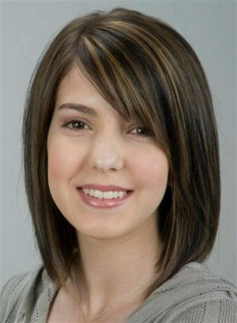 shoulder length haircuts with bangs medium length haircuts with side swept bangs