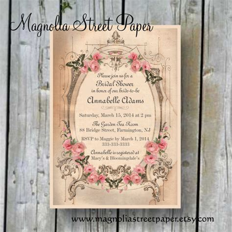 printable bridal shower invitation custom printable