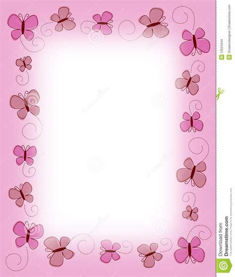 Abstrak Polkadot Butterfly pink butterfly border design