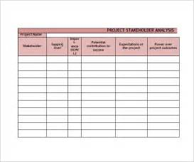 Stakeholders Map Template by Stakeholder Analysis Sle 8 Documents In Word Excel Pdf
