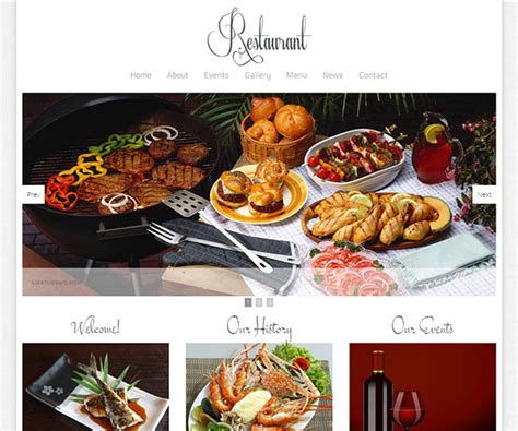 25 Restaurant Cafe Html Website Templates Free Premium Catering Website Templates Free