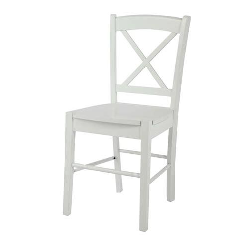 La Chaise Blanche by Chaise En H 233 V 233 A Blanche Newport Maisons Du Monde