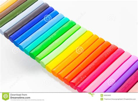 colorful clay colourful modelling clay stock photo image 40653606