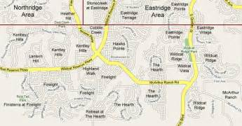 southridge subdivisions map and list highlands ranch