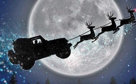 jeep wrangler raindeer best thing to get around in nothing but the best for st nick rt iamlynda santa drives a