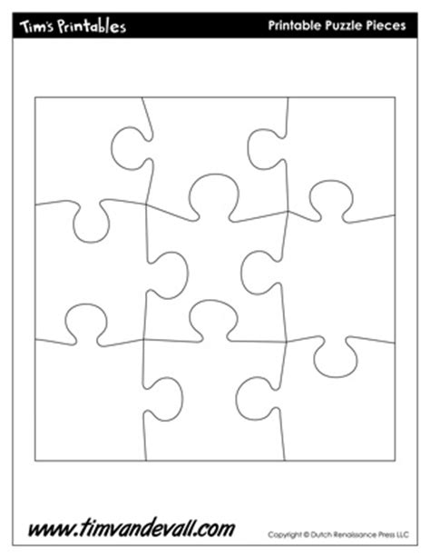 printable puzzle template 8 5 x 11 blank puzzle piece template free single puzzle piece