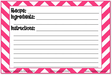 Printable Recipe Card Template by Free Recipe Cards Printable Grace And Eats