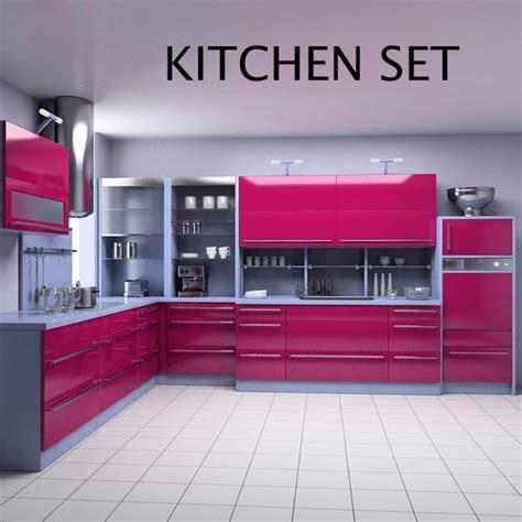 3d model kitchen set kitchen set p2 3d model hum3d